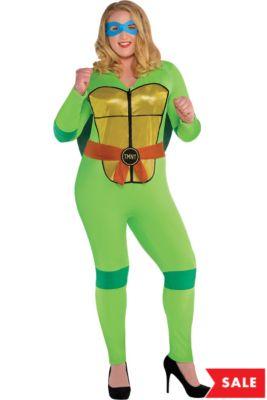 5fb4d54e79b Adult Sexy Teenage Mutant Ninja Turtles Costume Plus Size