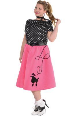 8ec1e948230 Adult 50s Flair Poodle Skirt Costume Plus Size