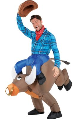 Kids Mario Riding Yoshi Inflatable Costume Size Standard