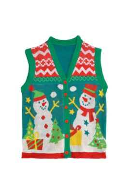 snowman ugly christmas sweater vest - Dirty Ugly Christmas Sweater