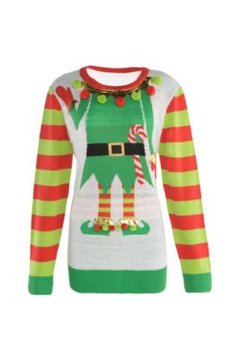adult jolly elf ugly christmas sweater - Ugly Christmas Sweater Dinosaur