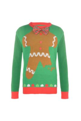 child gingerbread man ugly christmas sweater - Offensive Ugly Christmas Sweater