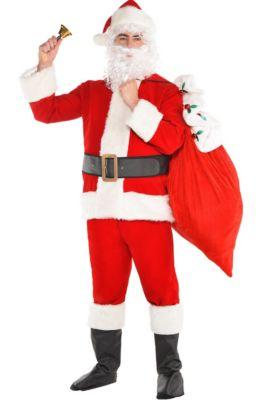 078034be2c43f Adult Velvet Santa Suit Costume Kit