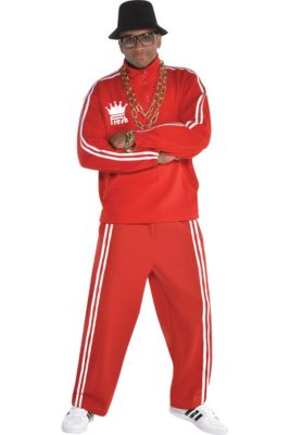 c46cf96833b Adult Hip Hop Tracksuit Costume Accessory Kit