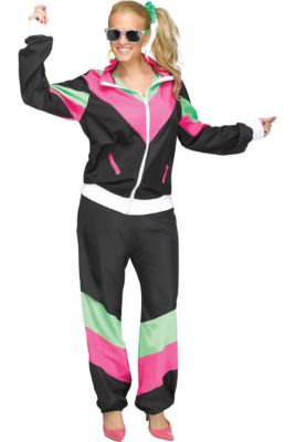 ed016144f3d Womens 80s Sweat Suit Costume