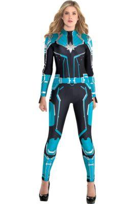 7c7435ba31b Adult Captain Marvel Starforce Costume - Captain Marvel