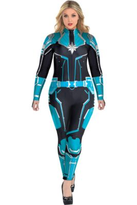 18d8d905a5 Adult Captain Marvel Starforce Costume Plus Size- Captain Marvel
