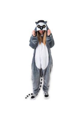 506b65f9ec1a Adult Zipster Lemur One Piece Costume