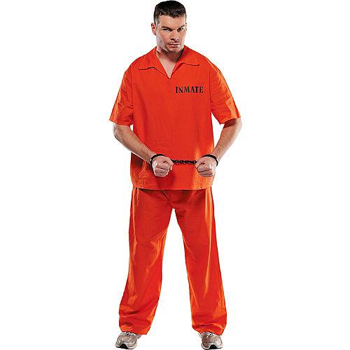 Adult Inmate Convict Prisoner Costume