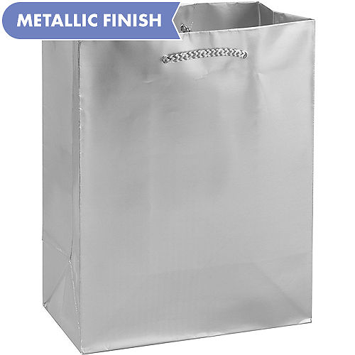 bd5846838456 Silver Gift Bags & Gift Wrap | Party City