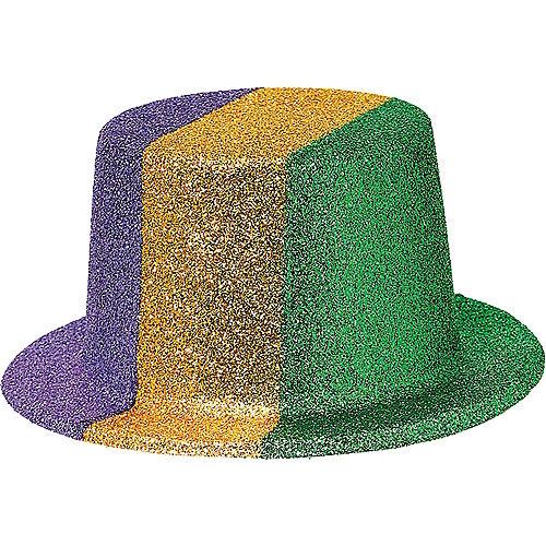 7b3748f9c58d9 Glitter Mardi Gras Top Hat