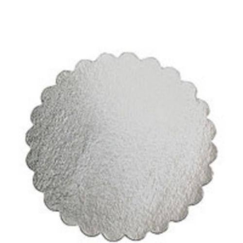 Silver 12in Round Cake Board