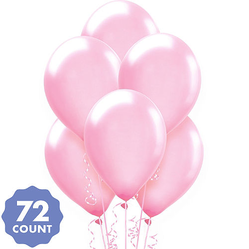 Pink Pearl Balloons 72ct