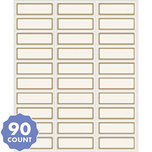 gold border printable address labels 90ct