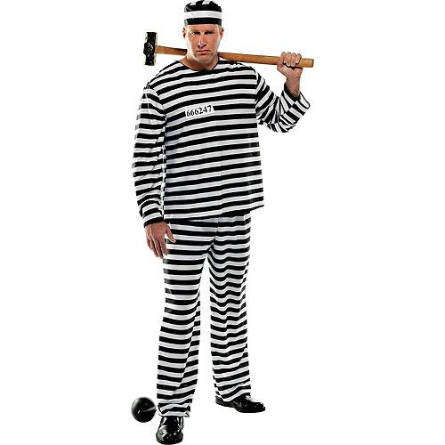Adult Jail Bird Convict Prisoner Costume Plus Size