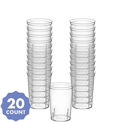 79c80e15be2 Big Party Pack CLEAR Plastic Shooter Glasses 20ct