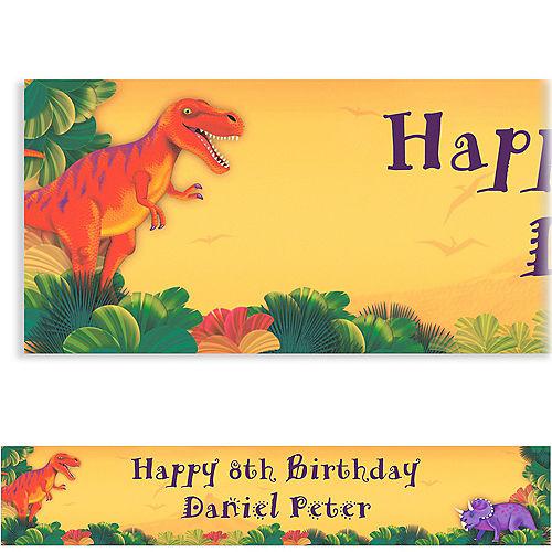 Custom Prehistoric Dinosaurs Birthday Banner 6ft