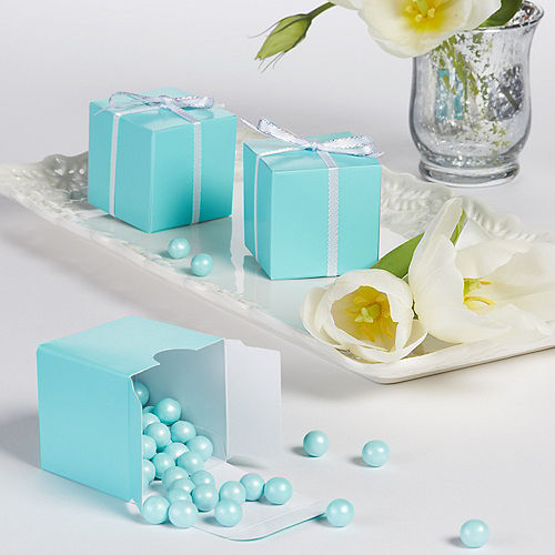 Robins Egg Wedding Favor Boxes 100ct Party City