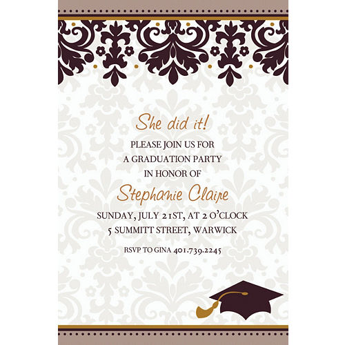 Custom graduation invitations party city custom black white graduation invitations filmwisefo
