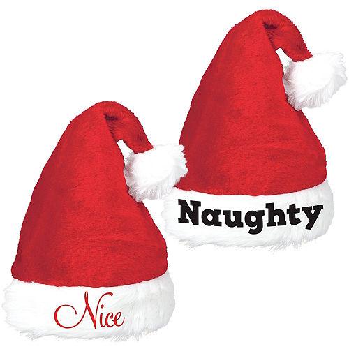 5097518959785 Naughty   Nice Santa Hat Set 2pc