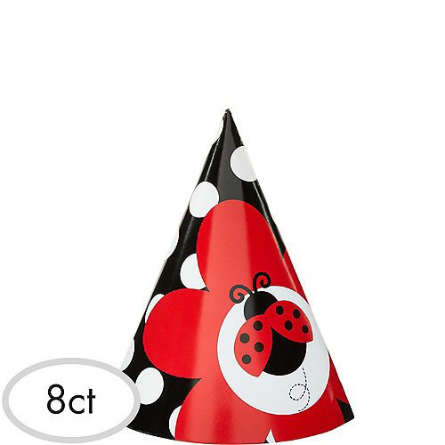 Fancy Ladybug Party Hats 8ct