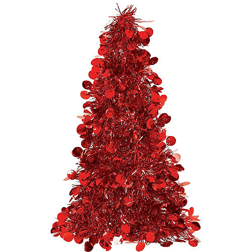 997e9403a81 3D Red Tinsel Christmas Tree