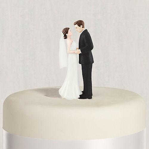 Brunette Bride Groom Wedding Cake Topper