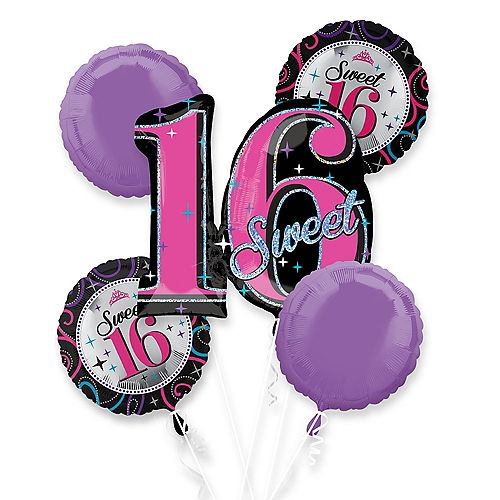 Happy Birthday Balloon Bouquet 5pc