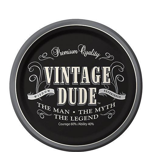 Vintage Dude Dessert Plates 8ct