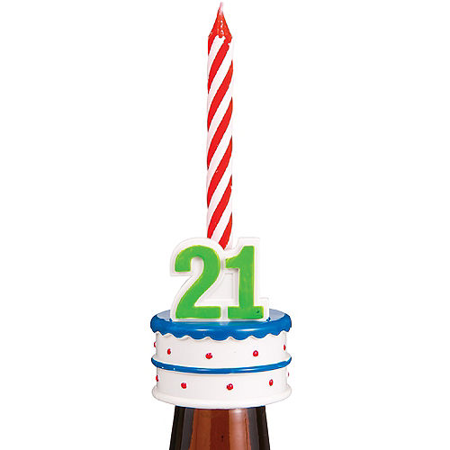 21st Birthday Bottle Topper Candle Holder