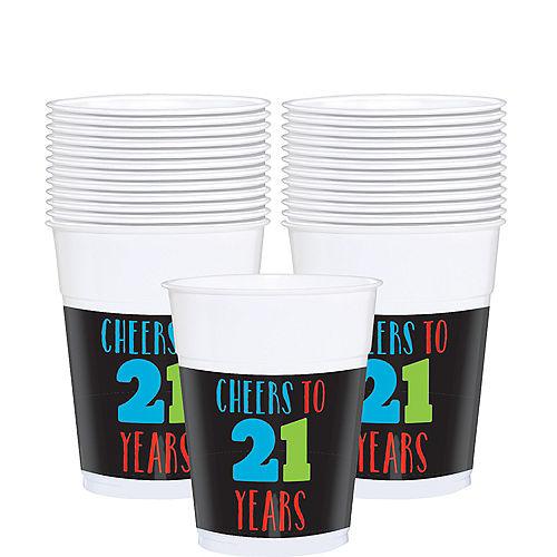 Brilliant 21st Birthday Plastic Cups 25ct