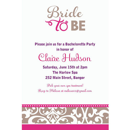 bachelorette party invitations party city