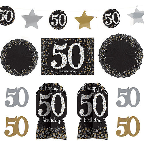 50th Birthday Room Decorating Kit 10pc