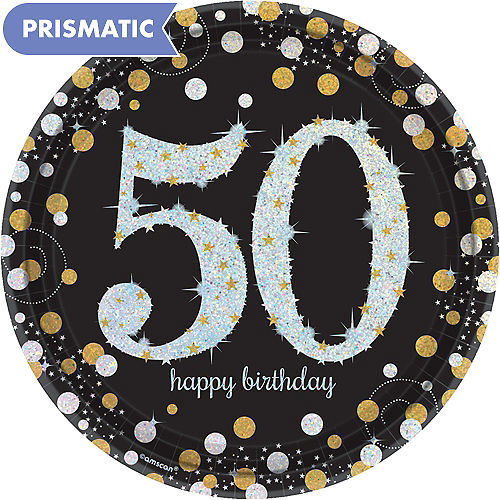 Prismatic 50th Birthday Lunch Plates 8ct