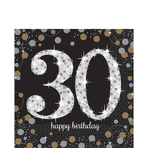 30th Birthday Lunch Napkins 16ct
