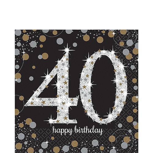 40th Birthday Lunch Napkins 16ct