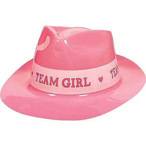 a62fc795dfae7 Team Girl Plastic Fedora - Girl or Boy Gender Reveal