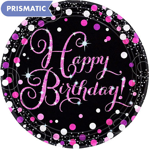 Prismatic Happy Birthday Lunch Plates 8ct