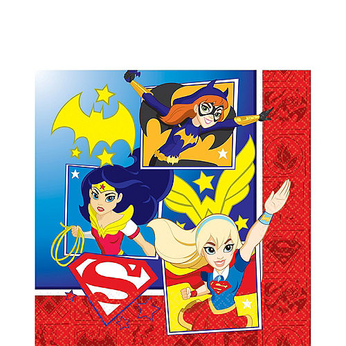 DC Super Hero Girls Lunch Napkins 16ct