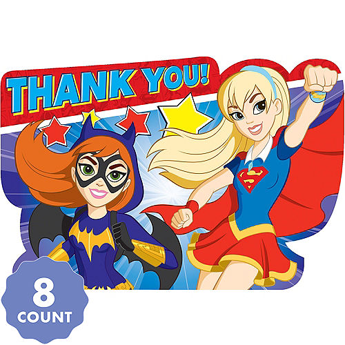 DC Super Hero Girls Thank You Notes 8ct