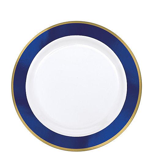 a1ebe139a8c Colorful Border Premium Tableware - Gold Trim Premium Plastic Plates ...