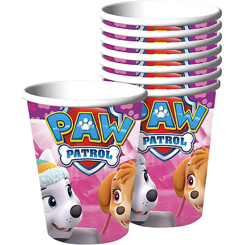 Pink PAW Patrol Cups 8ct