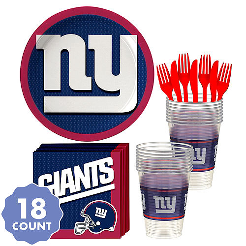 63c51eabdc9 New York Giants Party Kit for 18 Guests