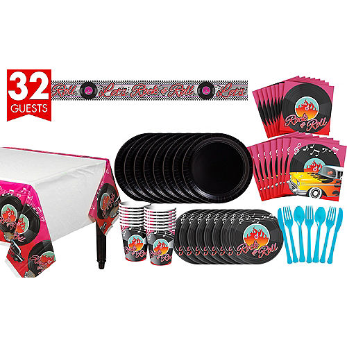 Classic 50s Tableware Kit For 32 Guests