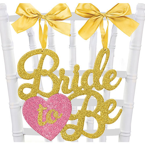 glitter bride to be chair sign