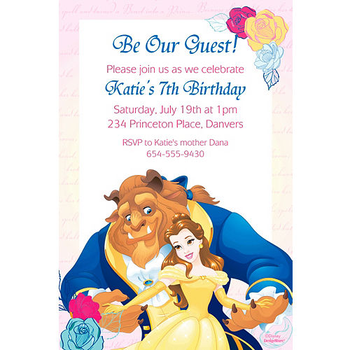 Custom Beauty And The Beast Invitation