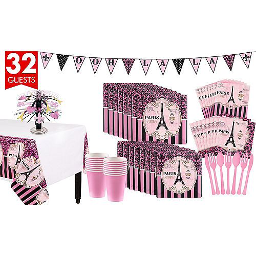 A Day In Paris Tableware Kit For 32 Guests