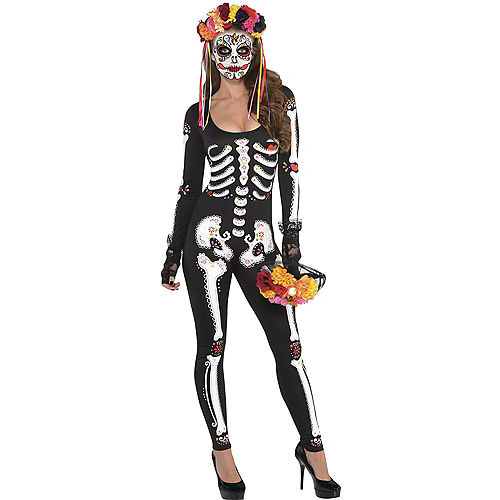 adult day of the dead catsuit