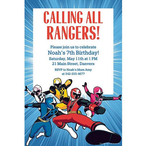 Custom Power Rangers Ninja Steel Invitation