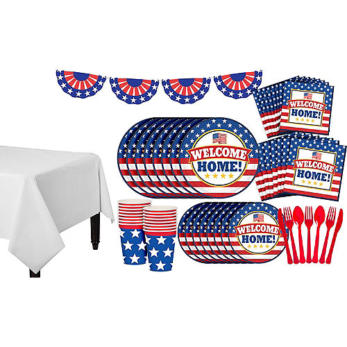 4th Of July Birthday Party Decorations Patriotic Welcome Home Pack For 18 Guests